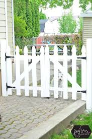 Diy White Picket Fence Gate Picket Fence Gate Backyard Fences White Picket Fence