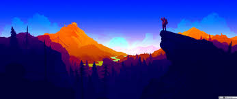 firewatch video game sunrise in