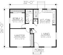 plan 832 square feet
