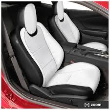 camaro leather seat kit pearl white