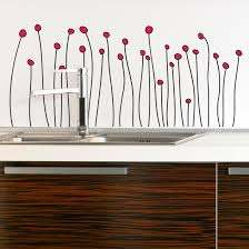Dotted Flowers Vinyl Wall Decal
