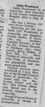 Addie Stewart Woodward (1909-1980) - Find A Grave Memorial