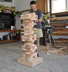how to make a diy giant jenga game