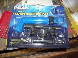 radiator flush using a flush kit