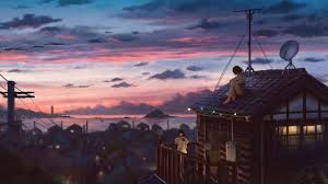 peaceful evening 2d animated wallpaper