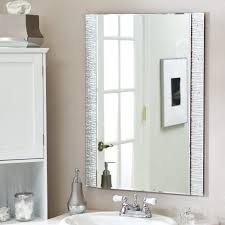wall mirror bathroom mount with led