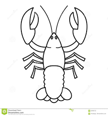 Crayfish Icon, Outline Style Stock ...