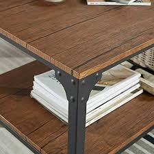 industrial square sofa side table