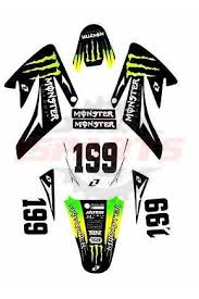 Monster 3m Crf70 Graphics High Spec Decals Sticker Pit Dirt Bike Thumpstar Wpb Isparts Golf Cart Parts Club Car Ezgo Parts Atv Utv Go Kart Bicycle Motorcycle Parts
