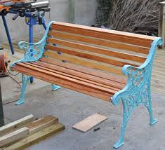 re a cast iron bench by new wood