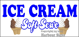 Ice Cream Soft Serve Food Concession Vinyl Decal Sticker Harbour Signs