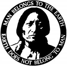 Native American Indian Man Belongs To Earth Car Or Truck Window Decal Sticker Rad Dezigns