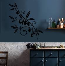 Vinyl Wall Decal Olive Branch Olives Food Plant For Kitchen Stickers Wallstickers4you