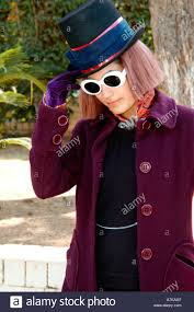 Cheli as Johnny Depp as Willy Wonka in Charlie and the Chocolate Stock  Photo - Alamy