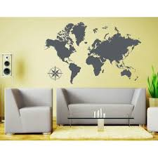 Detailed World Map Wall Decal Educational Wall Decal Map Sticker Vinyl Wall Art Geography Decor 3712 Pink 39in X 25in Walmart Com Walmart Com