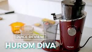 JUICE REVIEW: Máy Ép Chậm HUROM DIVA H-100 - YouTube