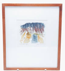 ORIGINAL FRAMED WATERCOLOR BY ARTHUR JACOBSON (1924-2010) FROM A ...