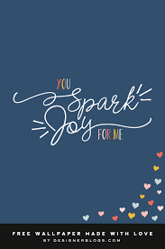 spark joy free february wallpaper