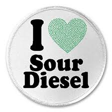 "I Love Sour Diesel - 3"" Sew Iron On Patc- Buy Online in Bahamas at  Desertcart"