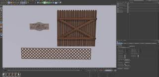 Free Cinema 4d 3d Model Wooden Fence Elements The Pixel Lab