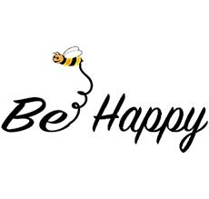 Amazon Com Wickedgoodz Bee Happy Vinyl Window Decal Bee Happy Bumper Sticker Perfect Inspirational Gift Automotive