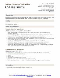 carpet cleaning technician resume