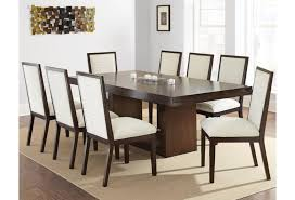Prime Antonio Contemporary Dining Set With Upholstered Side Chairs Prime Brothers Furniture Dining 7 Or More Piece Sets