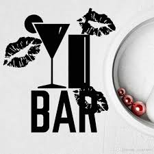Cocktail Bar Wall Decal For Night Club Alcohol Kitchen Vinyl Wall Stickers Home Decoration Accessories For Living Room Full Wall Decals Full Wall Mural Decals From Joystickers 14 2 Dhgate Com