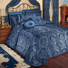 camelot navy damask quilted oversized