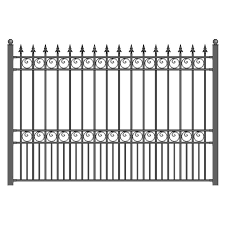 Aleko High Quality Ornamental Fence Ornamental Fence 7 Ft H X 5 2 Ft W Black Steel Yard Fence Panel In The Metal Fence Panels Department At Lowes Com