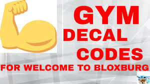 Gym Decal Codes Welcome To Bloxburg Youtube