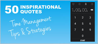 time management tips and strategies inspirational quotes