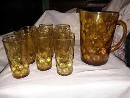 optic coin dot tumblers and pitcher set