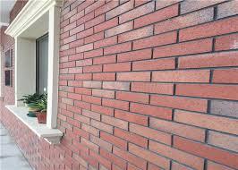 outdoor fake brick wall covering