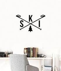 Snow Ski Wall Decal Sticker Snow Ski Window Sticker Snow Ski In 2020 Wall Decal Sticker Window Stickers Wall Decals