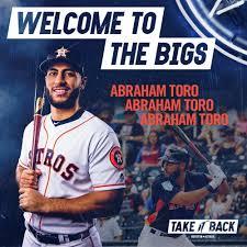 "Houston Astros on Twitter: ""Bienvenue à Houston, Abraham Toro! 🤘… """