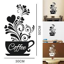 Shop Kitchen Wall Decals Coffee Cup Theme Overstock 23134828 Medium