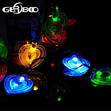 Solar Powered String Lights 20 Led Heart Shaped For Outdoor Garden Fence Patio Christmas Party Wedding Decoration 2pcs Lot Solar Power Solar Powered String Lights20 Led Aliexpress
