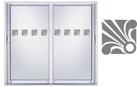 safety sliding glass door etched glass