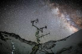 weather station installed on mount everest