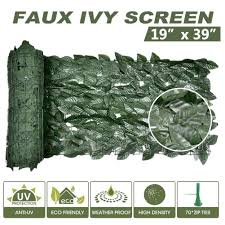 50x100cm Artificial Privacy Fence Screen Faux Ivy Leaf Screening Hedge For Outdoor Indoor Decor Garden Backyard Patio Decoration Fencing Trellis Gates Aliexpress