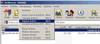 Soporte WinRAR - Como reparar un archivo dañado