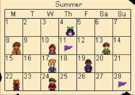 calendar stardew valley wiki