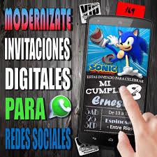 Invitacion Digital 169 Cumpleanos Bautismo Sonic 99 99