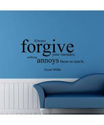 Always Forgive Your Enemies Quote Wall Decal Kakshyaachitra 2801529