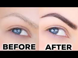 thick eyebrows fill them in naturally