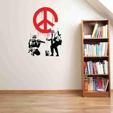 Peace Propaganda Banksy Wall Decal Sticker Style And Apply