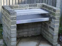 brick bbq grill in snless steel