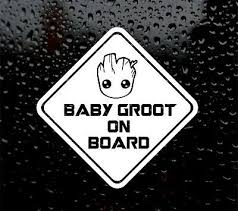 Decor Decals Stickers Vinyl Art Baby Groot On Board 100x145mm Guardians Of The Galaxy Vinyl Decal Sticker Bumper Home Garden Vibranthns Lk