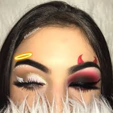 two sided makeup look